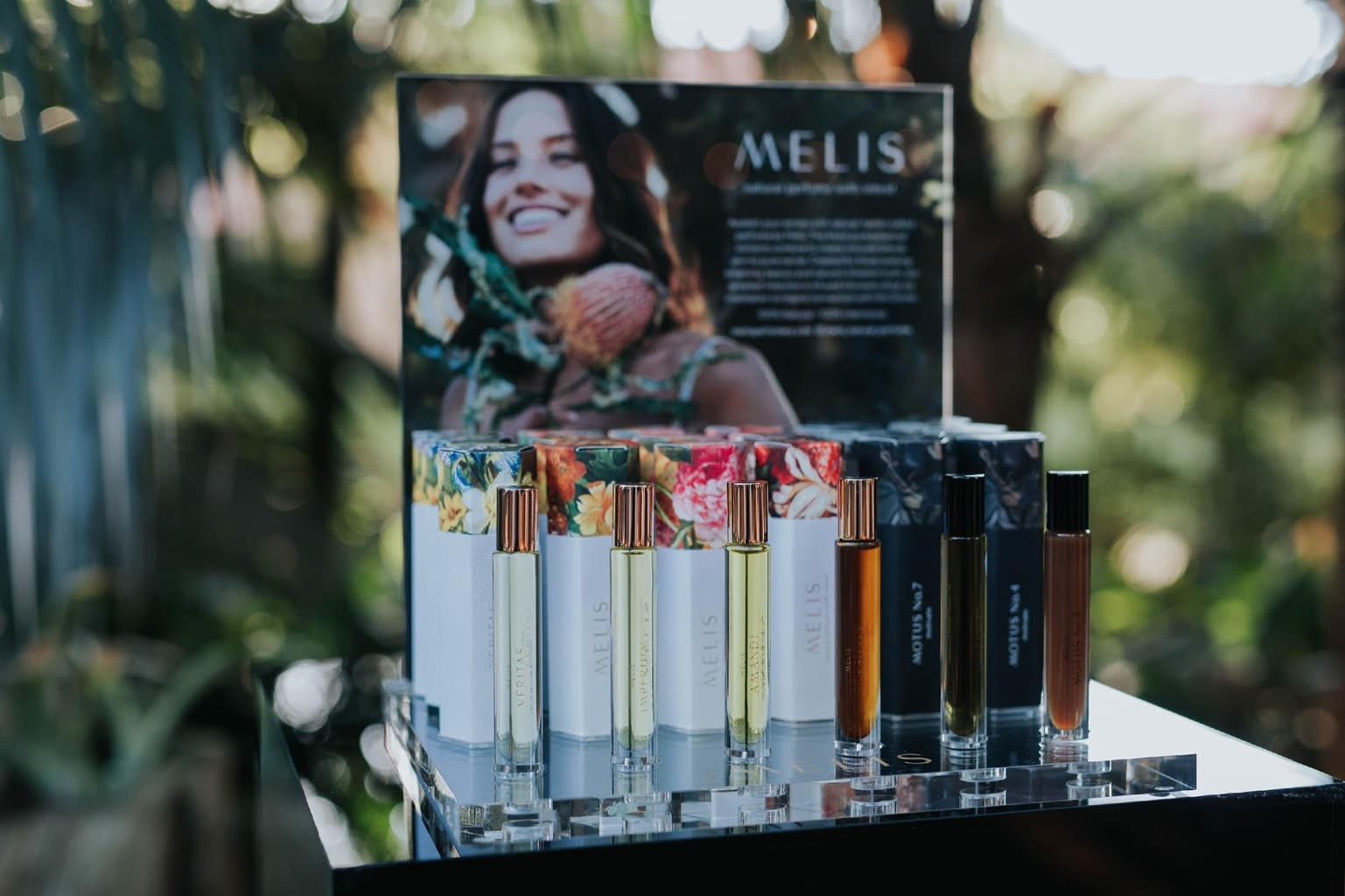 Melis Natural Vegan Friendly Perfume Display